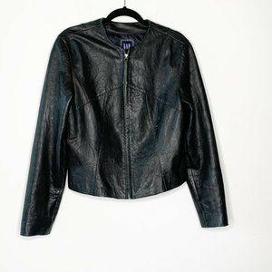 Vtg Y2K Gap 100% Leather Buttery Soft Jacket